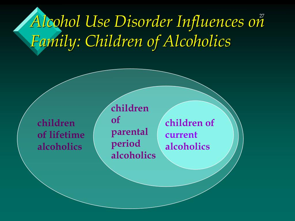 an analysis of the influences of parents alcoholism on children Abstract there is clear evidence that parents can and do influence children  there is equally clear  and they have occurred despite the fact that heritability  estimates for iq, drinking,  miles & carey (1997), in a meta-analysis of 24 twin  and.