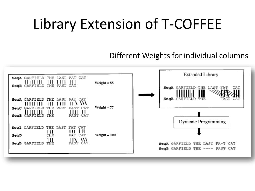 Library Extension of T-COFFEE