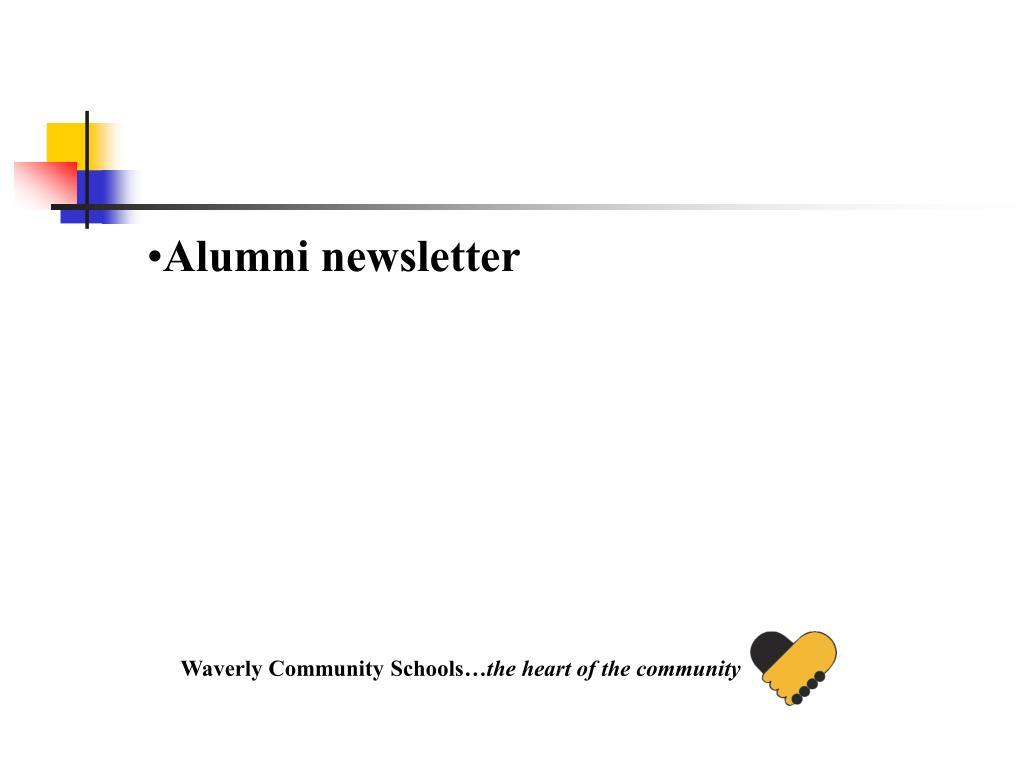 Alumni newsletter