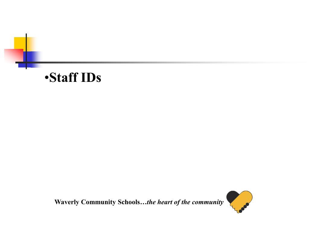 Staff IDs