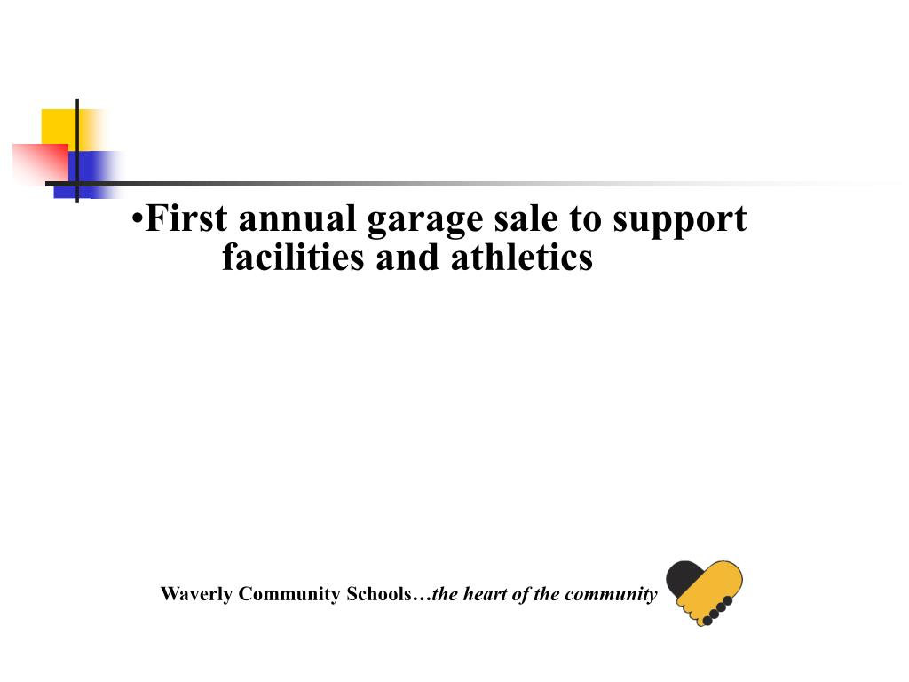 First annual garage sale to support facilities and athletics