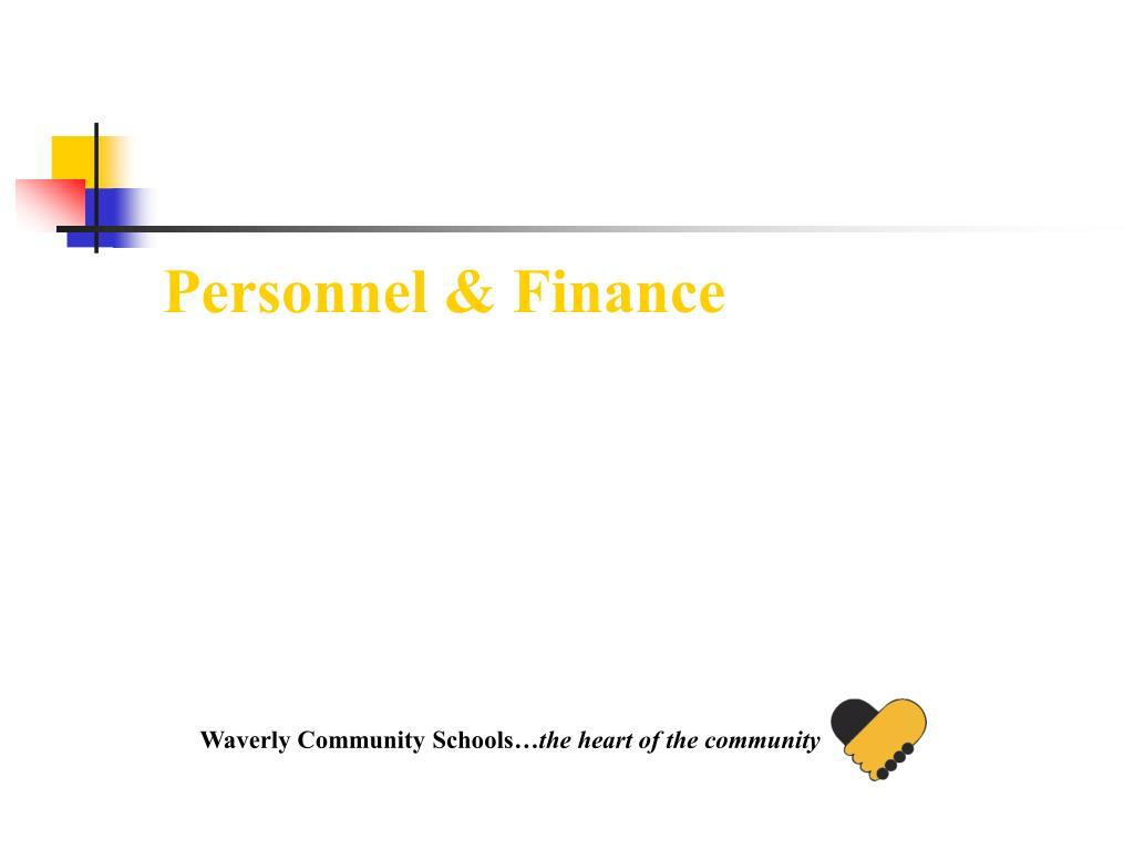 Personnel & Finance