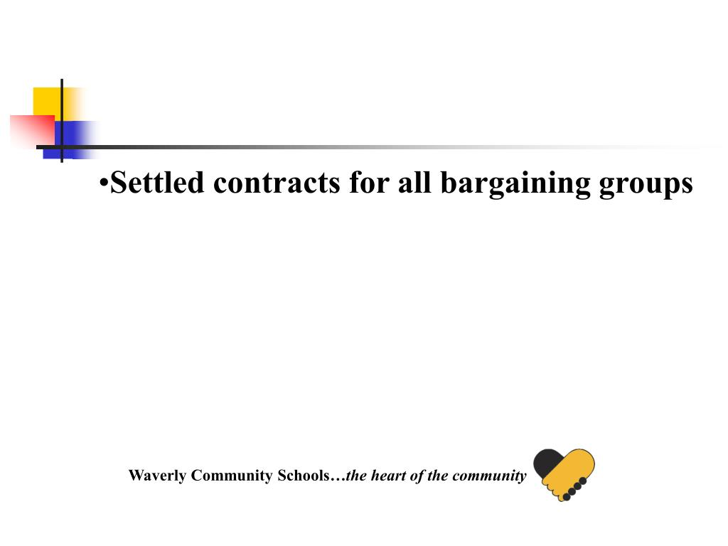 Settled contracts for all bargaining groups