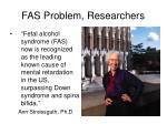 fas problem researchers
