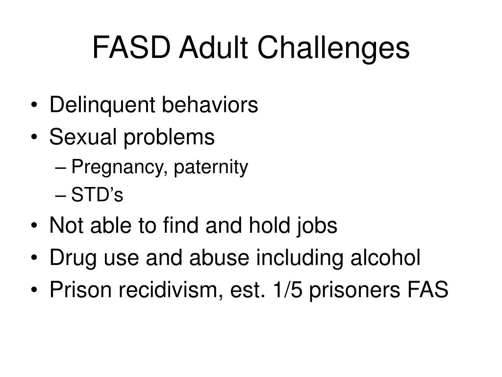 FASD Adult Challenges