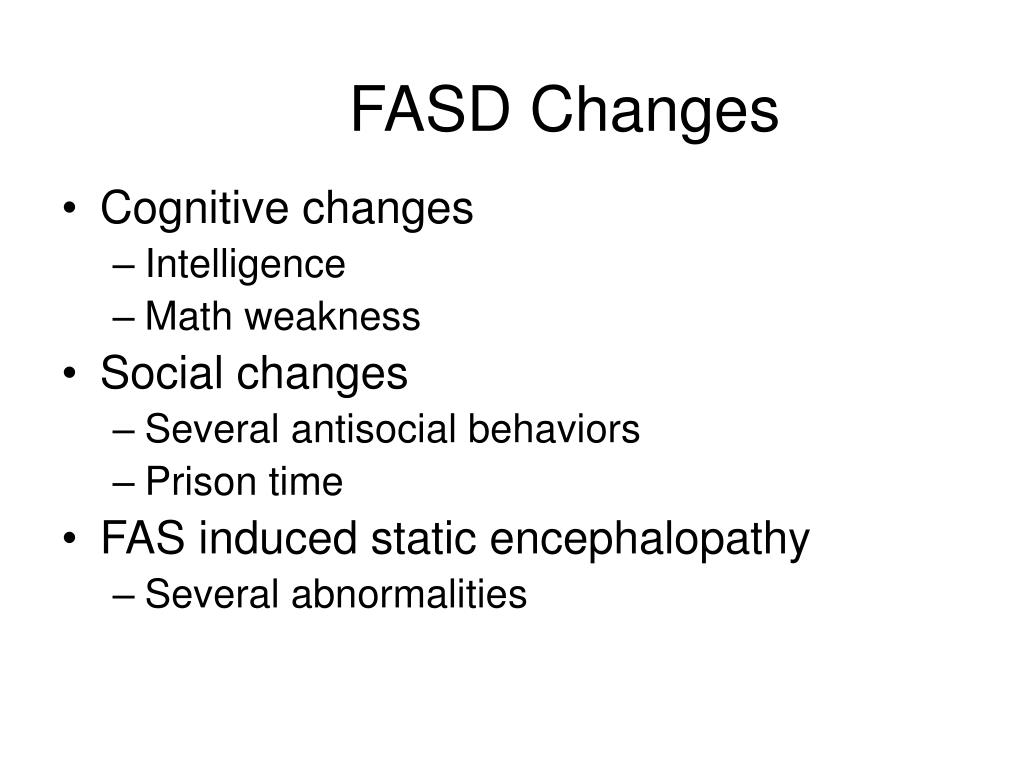 FASD Changes
