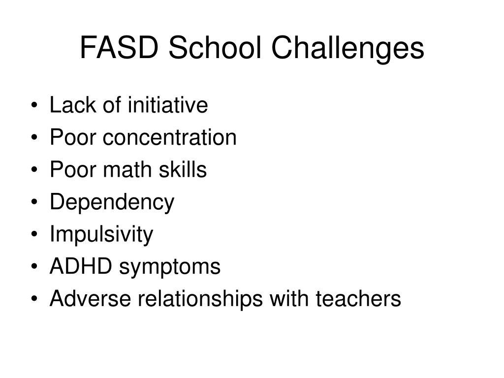 FASD School Challenges