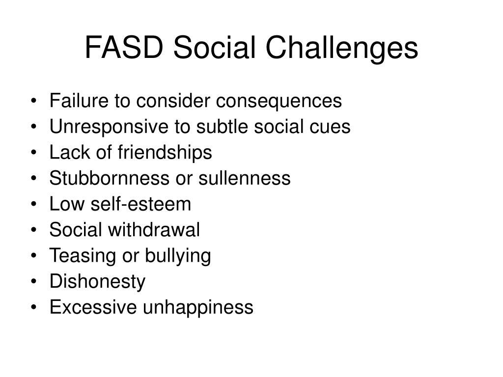 FASD Social Challenges