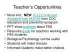 teacher s opportunities