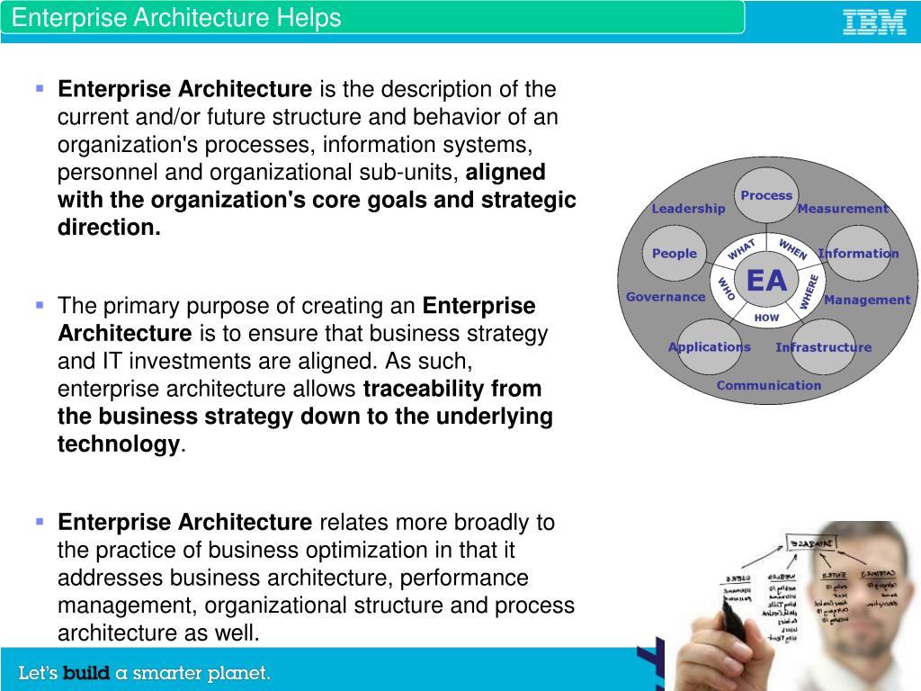 Enterprise Architecture Helps