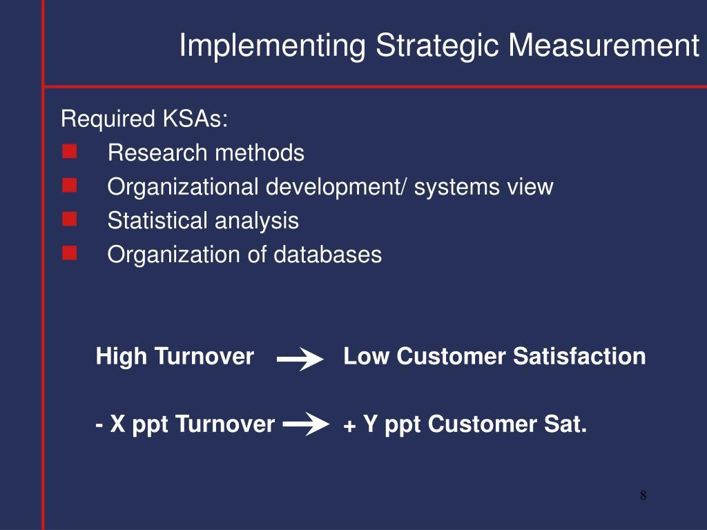 Implementing Strategic Measurement