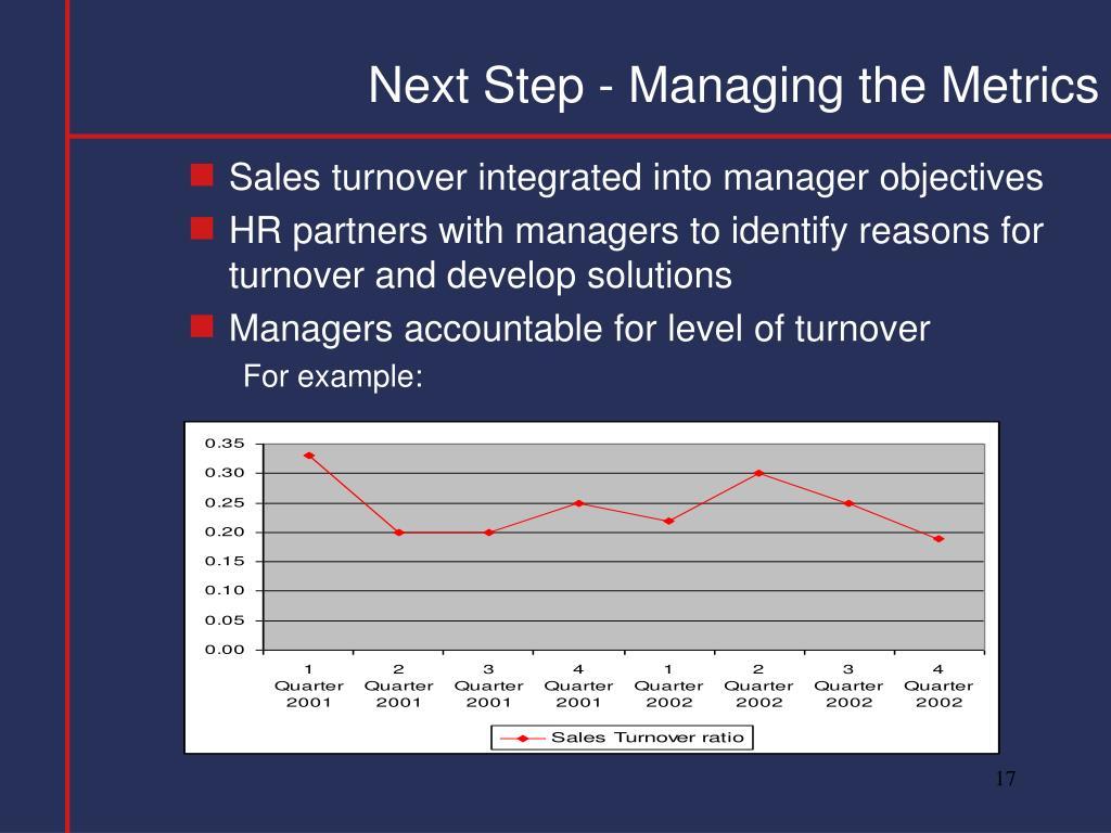 Next Step - Managing the Metrics