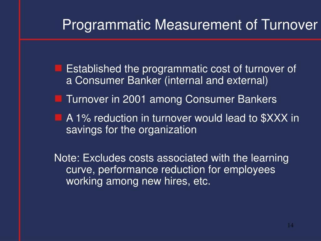 Programmatic Measurement of Turnover