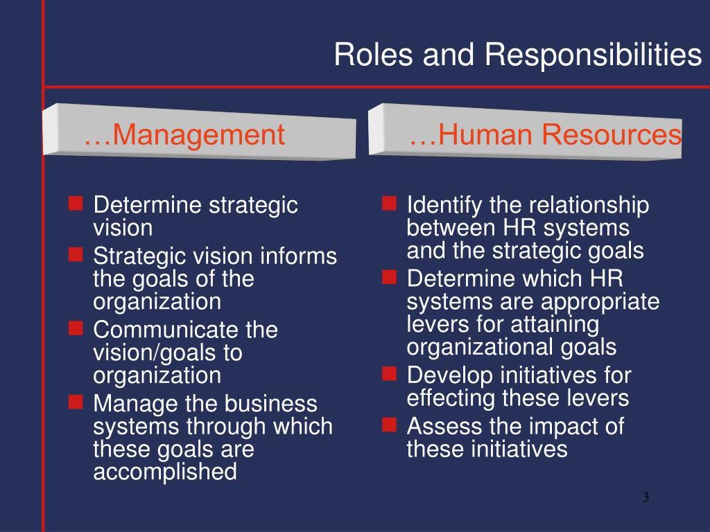 Determine strategic vision