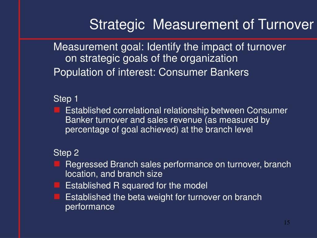 Strategic  Measurement of Turnover