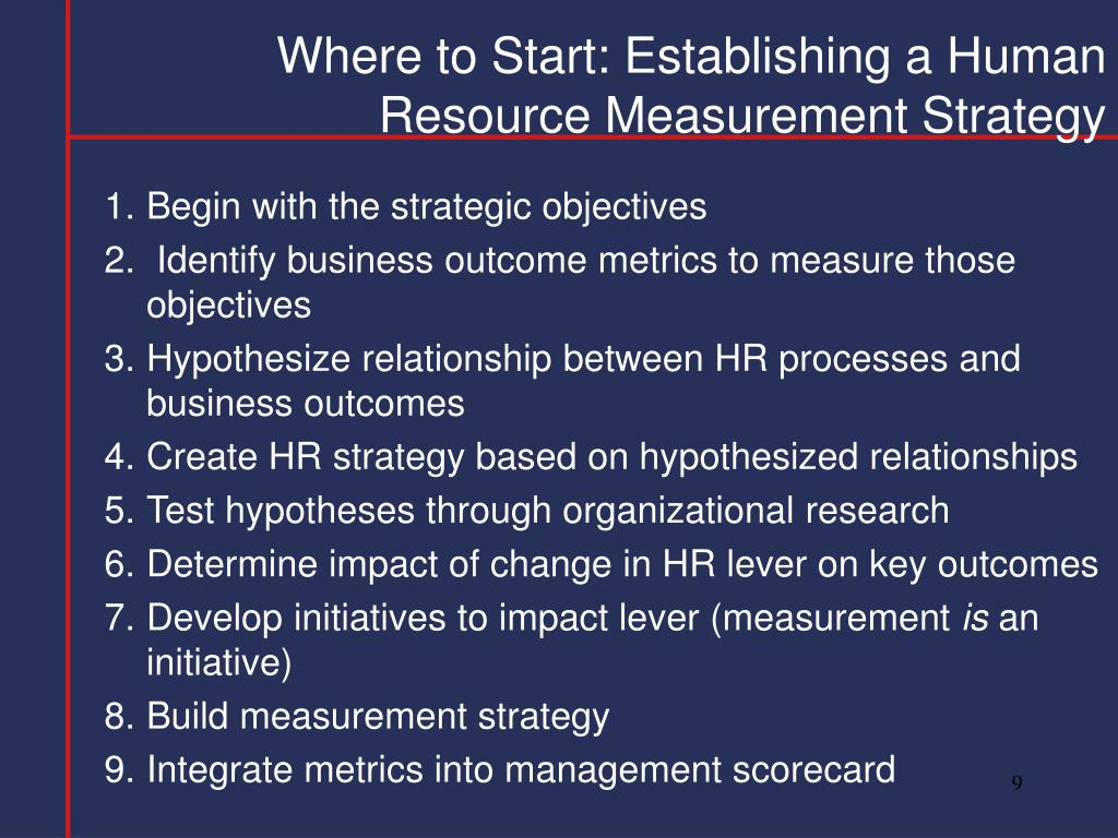 Where to Start: Establishing a Human Resource Measurement Strategy