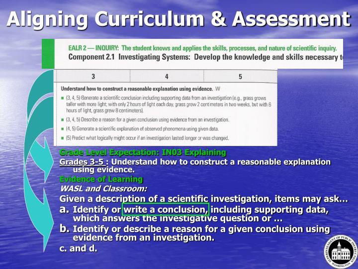 Aligning Curriculum & Assessment