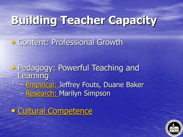 Building Teacher Capacity