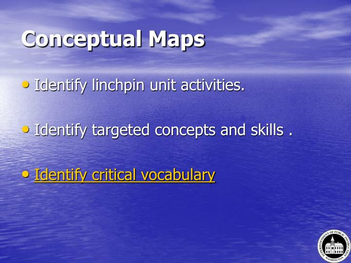 Conceptual Maps