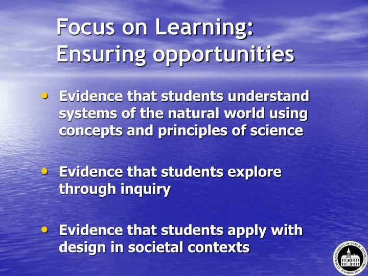 Focus on Learning: