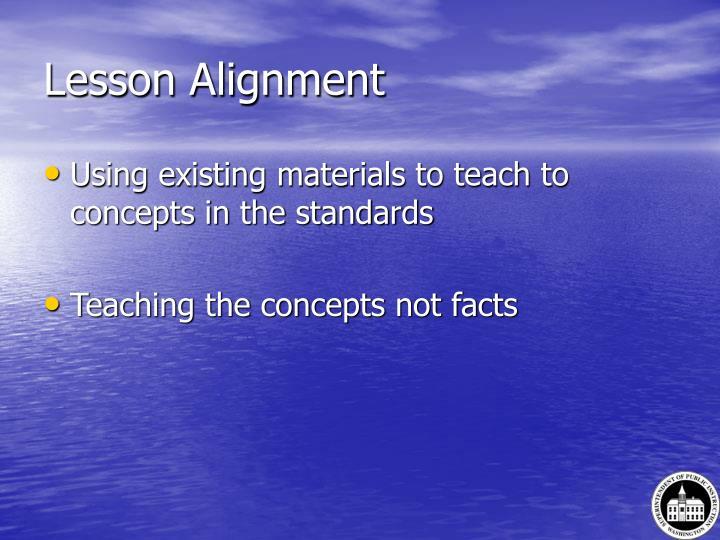Lesson Alignment