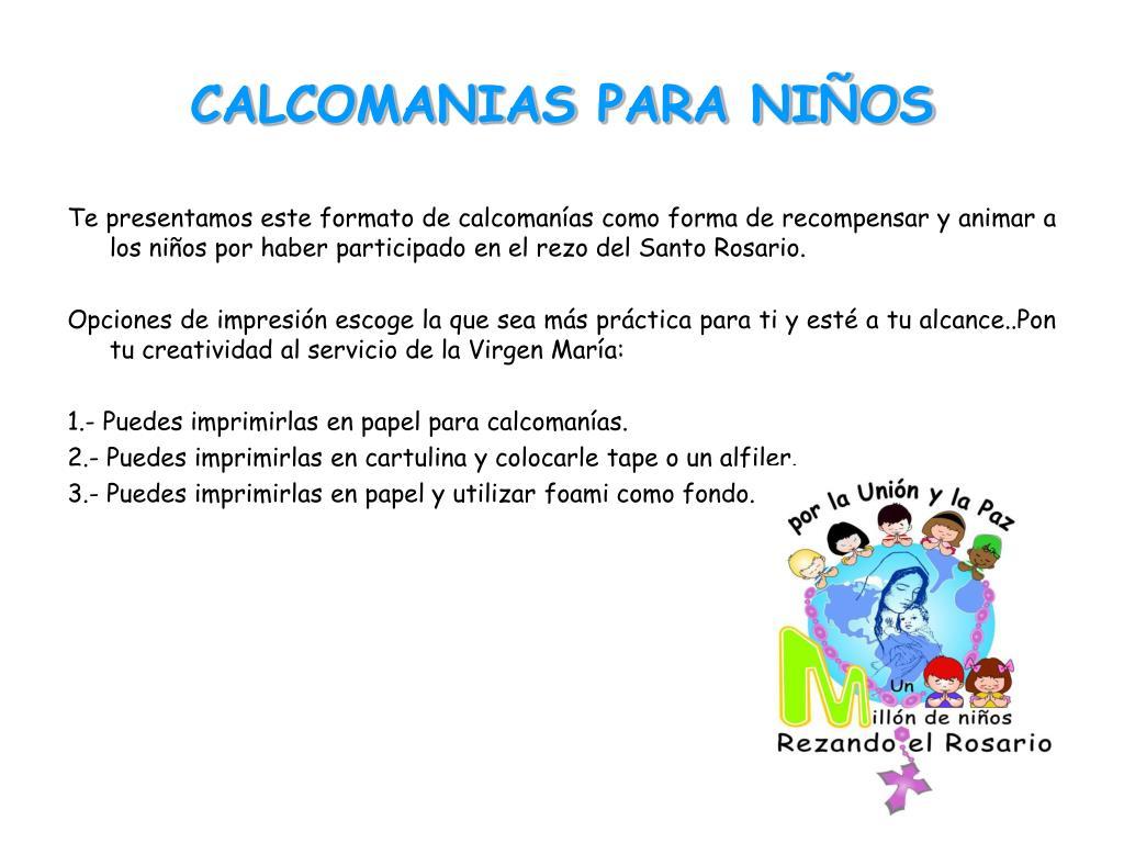 CALCOMANIAS PARA NIÑOS