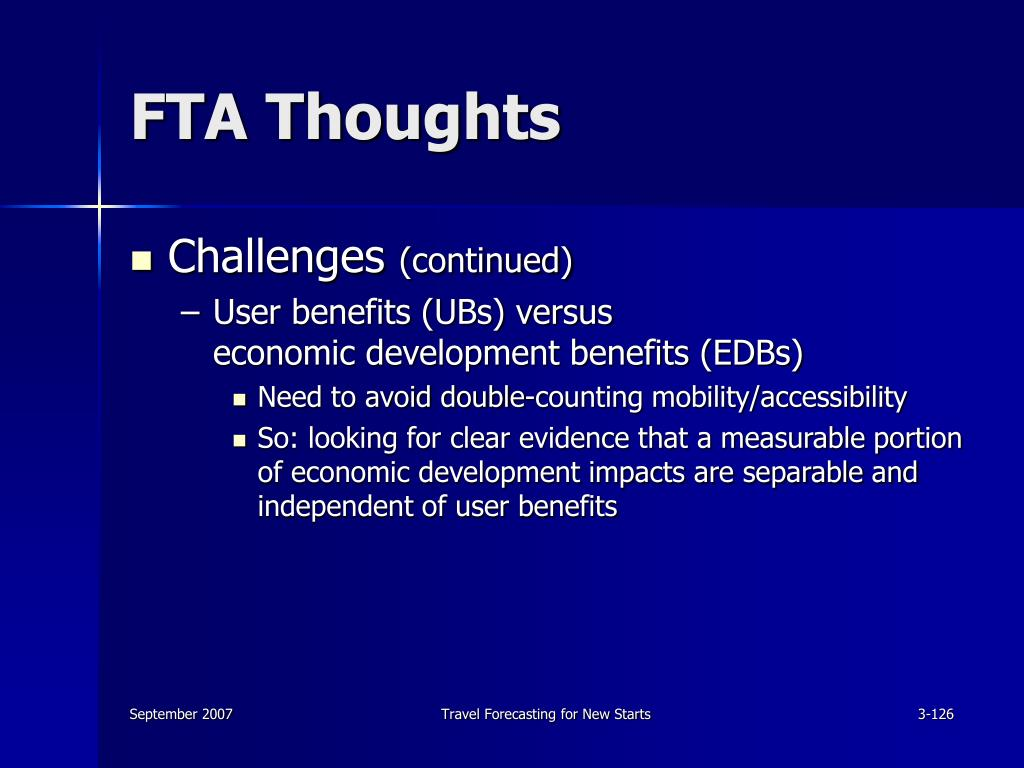 FTA Thoughts