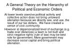 a general theory on the hierarchy of political and economic orders14