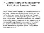 a general theory on the hierarchy of political and economic orders9
