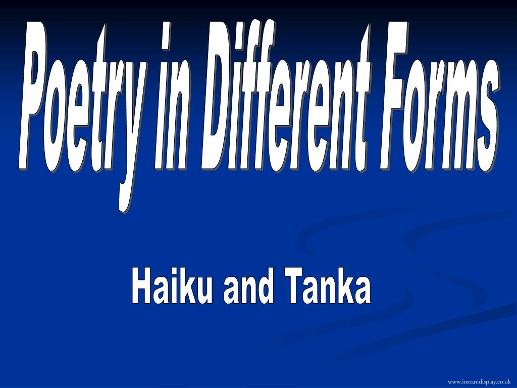 Poetry in Different Forms