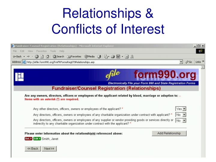 Relationships &