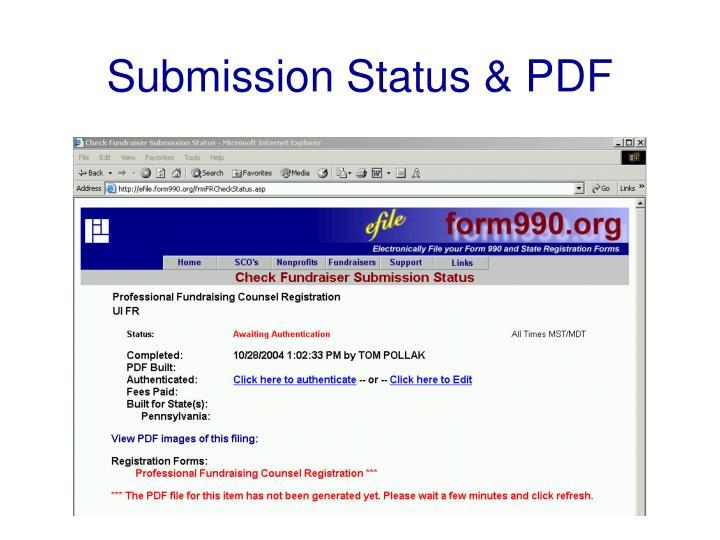 Submission Status & PDF