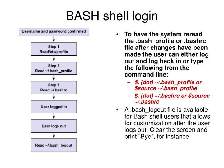 BASH shell login