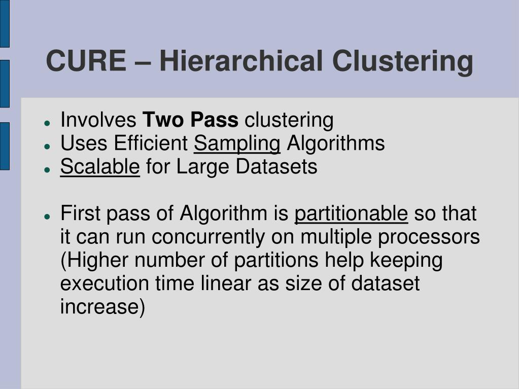 CURE – Hierarchical Clustering