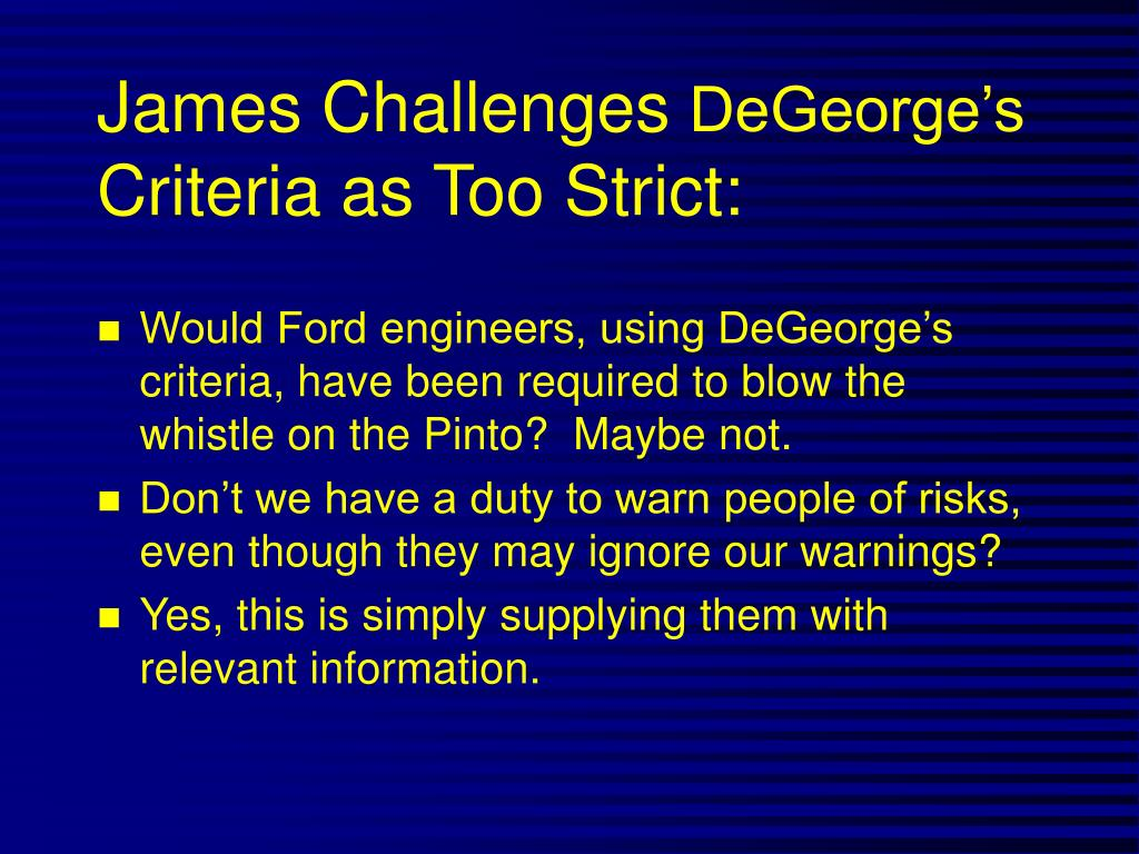 James Challenges