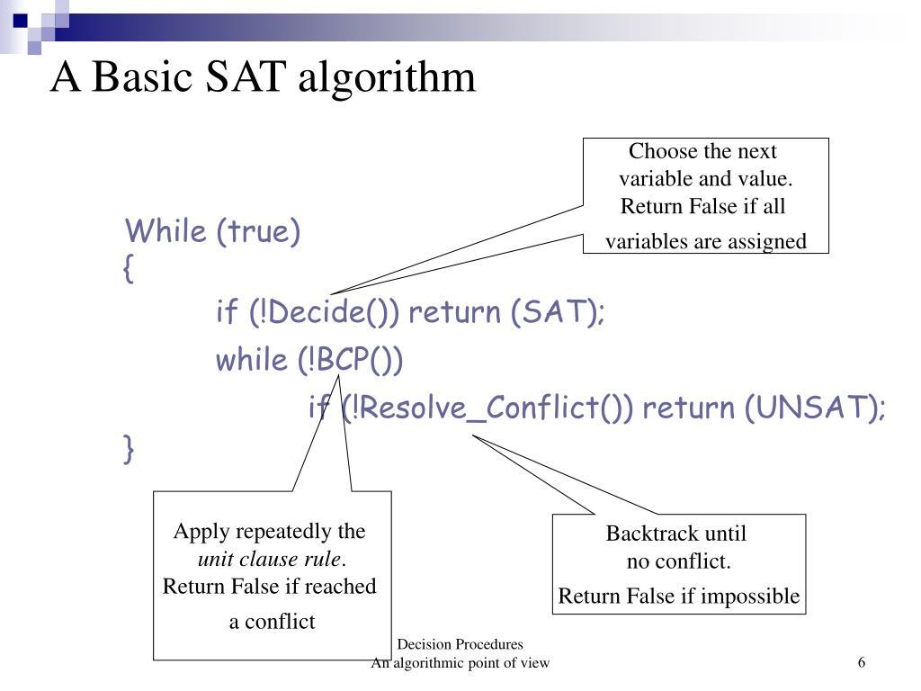 A Basic SAT algorithm