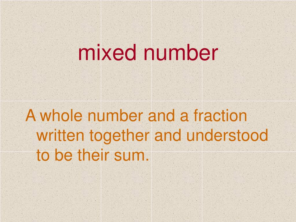 mixed number
