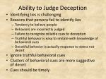 ability to judge deception