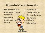 nonverbal cues to deception