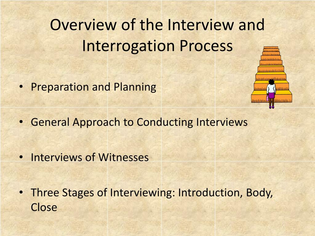Overview of the Interview and Interrogation Process