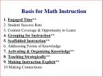 basis for math instruction