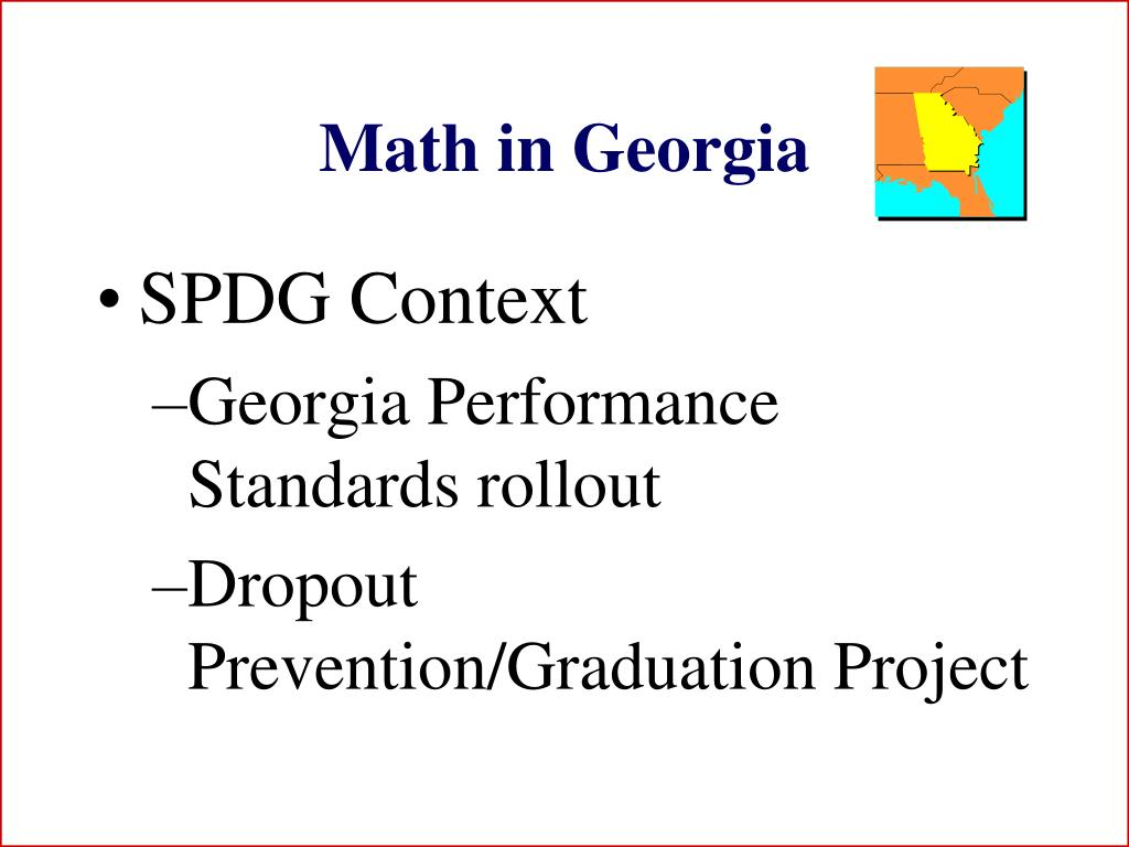 Math in Georgia