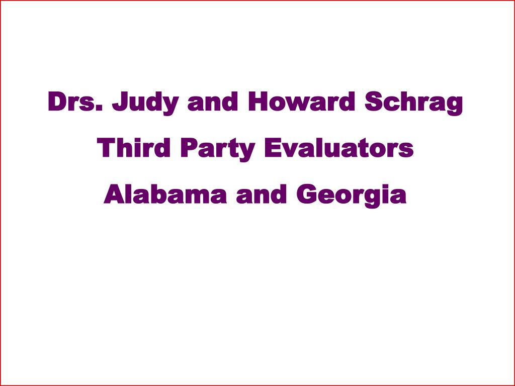 Drs. Judy and Howard Schrag