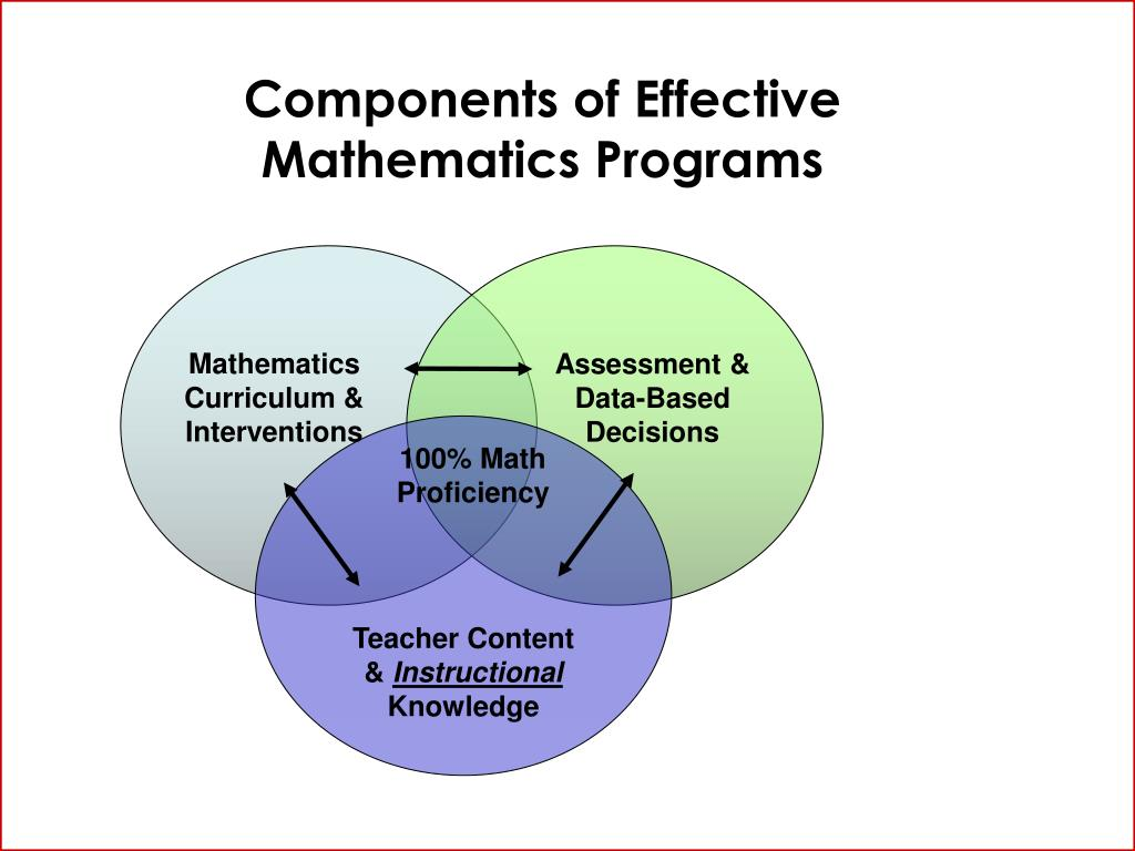 Components of Effective Mathematics Programs