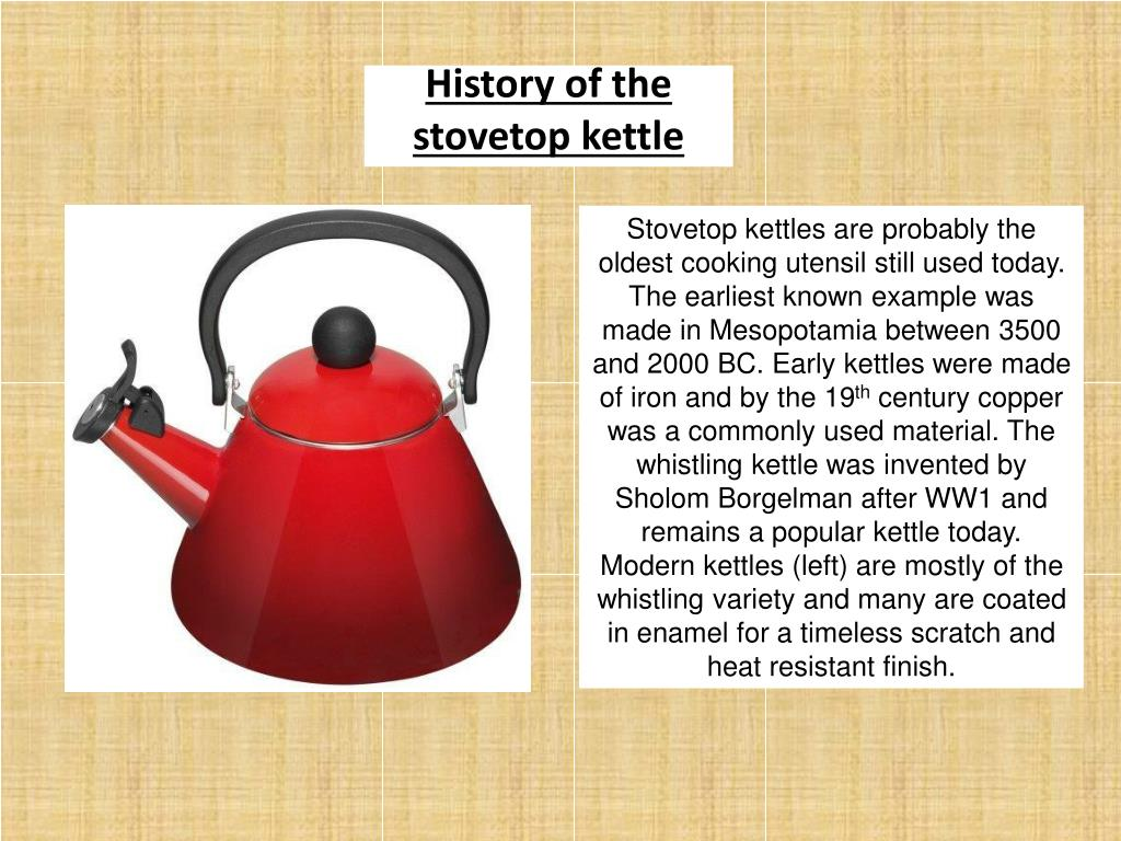 History of the stovetop kettle