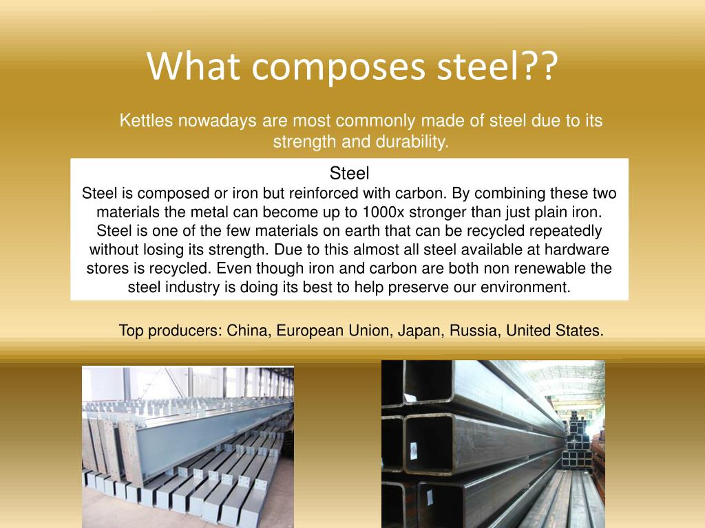 What composes steel??