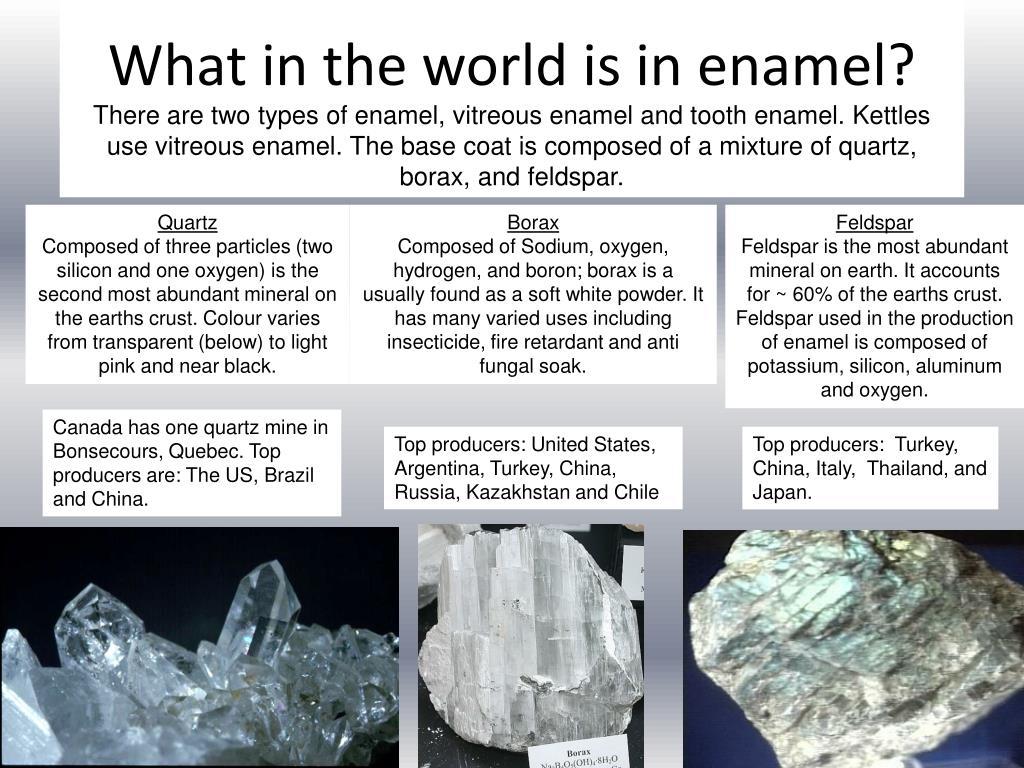 What in the world is in enamel?