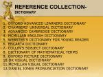 reference collection dictionary