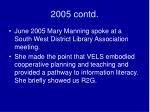 2005 contd