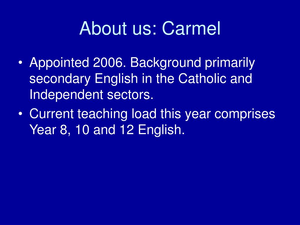 About us: Carmel